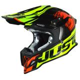 Just1 J12 Helm Dominator Neon Lime/Rot 2018