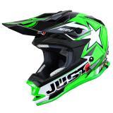 Just1 J32 Pro Helm Moto-X Grün 2018