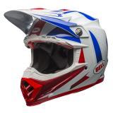 Bell Moto-9 Carbon Flex Helm Vice - Blau/Rot 2018