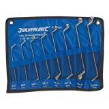 Silverline Doppelringschlüssel 8-teilig, gekröpft