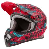 O'Neal 3Series Attack Helm Schwarz/Rot/Teal 2019