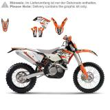 Blackbird Racing Dream 3 Dekor-Kit KTM EXC 08-11, SX/SX-F 07-10, Orange/Schwarz/Weiß