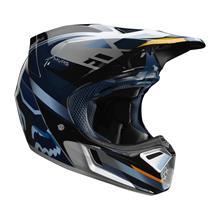 Fox V3 Helm Motif - Blau/Silber 2019