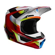 Fox V1 Helm Motif - Rot/Weiß 2019
