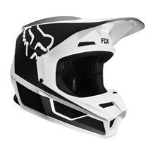 Fox V1 Helm Przm - Schwarz/Weiß 2019