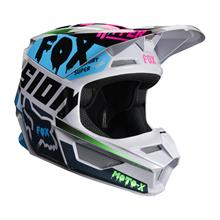 Fox V1 Kids Helm Czar - Light Grey 2019