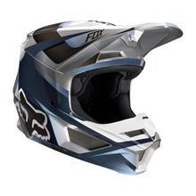 Fox V1 Kids Helm Motif - Blau/Grau 2019