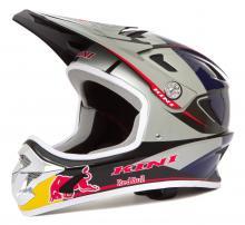 Kini Red Bull Downhill-Helm MTB Silber/Blau Neu