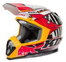 Kini Red Bull Helm MX Motocross Enduro Quad Revolution Schwarz/Rot/Weiß Neu