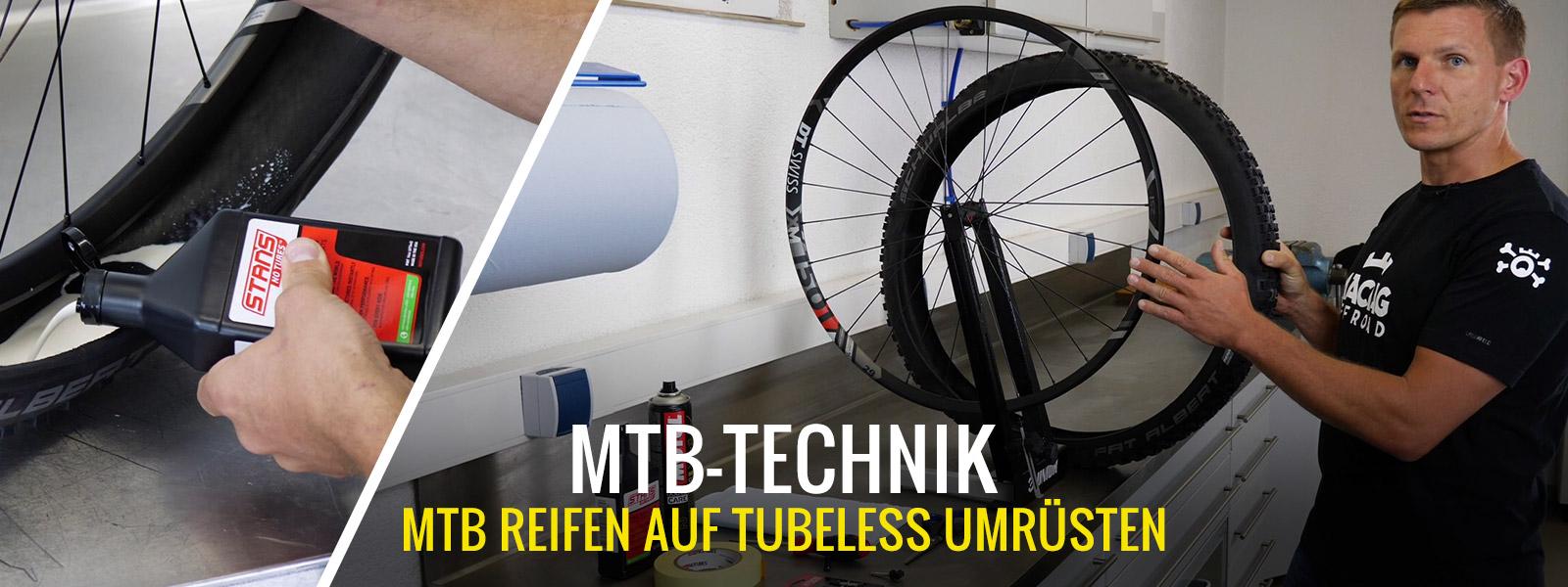 Mountainbike - Umrüstung auf Tubeless