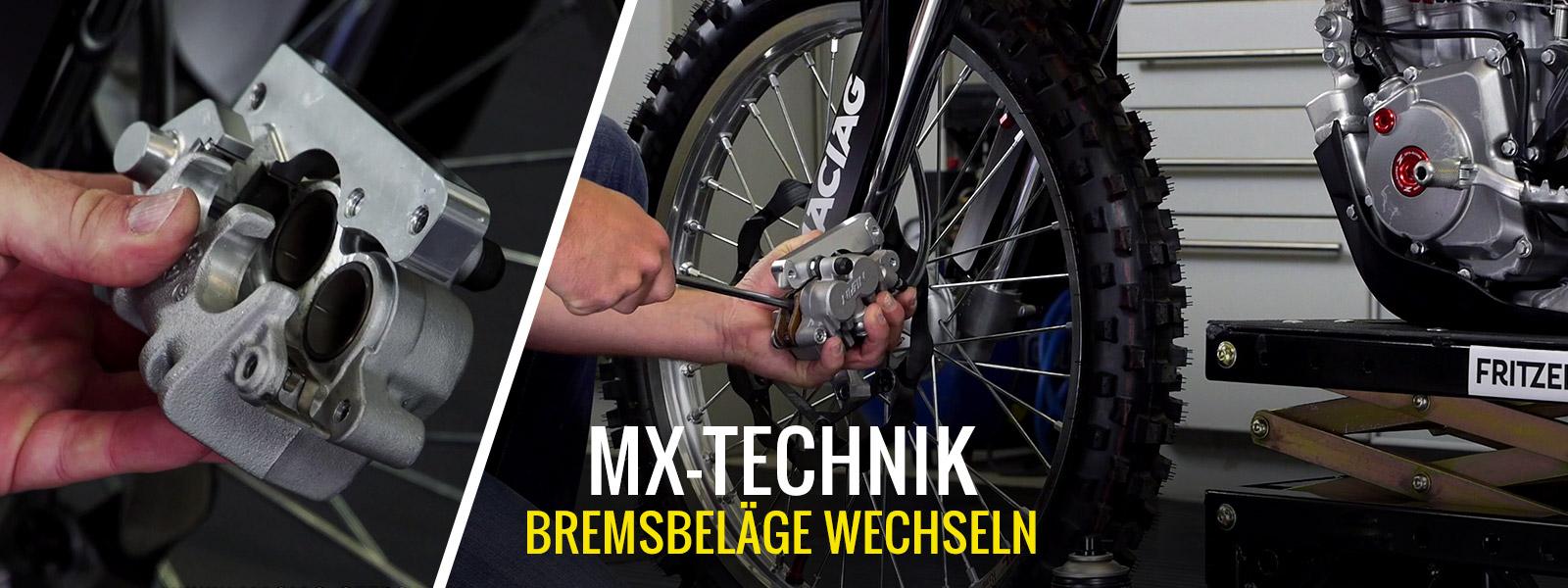 Motocross & Enduro Bremsbeläge Wechseln