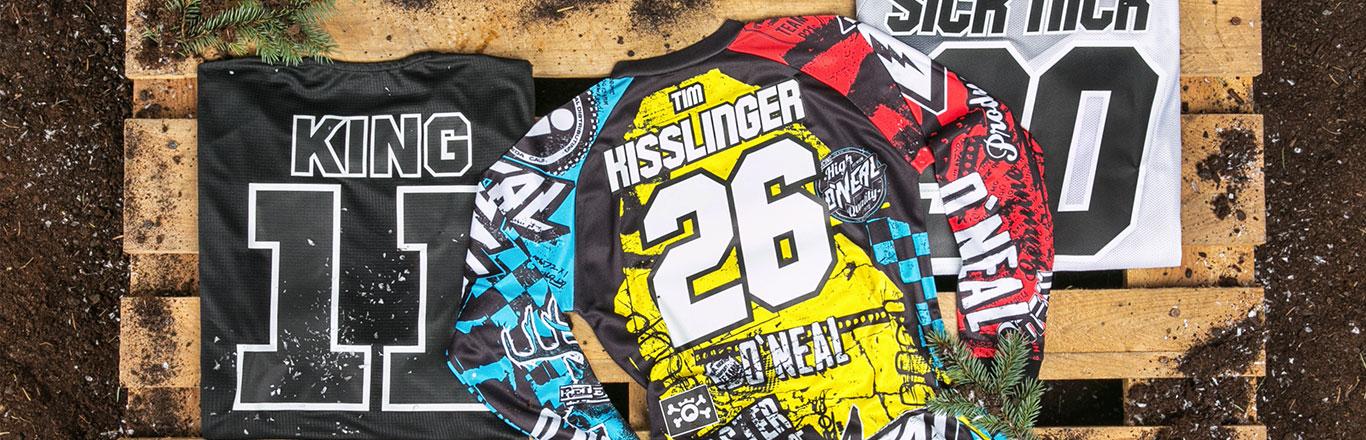 Motocross Enduro % mountainbike Jersey bedrucken